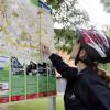 Hinweisschild am Radweg in Mühlhausen