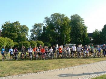 Radfahrergruppe in Mühlhausen