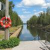 Der Vääksy Kanal liegt ebenfalls auf der Radstrecke.