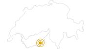 Wanderung Klettersteig Mittaghorn im Saastal: Position auf der Karte