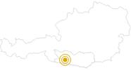 Hike Alm Hinterm Brunn – Gajacher Alm – Weiße Wand – Northern lake Weissensee in Nassfeld-Pressegger See - Lesachtal - Weissensee: Position on map