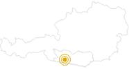 Wanderung Wanderung am Weißensee: Neusach - Kleine Steinwand in Nassfeld-Pressegger See - Lesachtal - Weissensee: Position auf der Karte