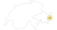 Hike Senda Val Müstair in Scuol Samnaun Val Müstair: Position on map
