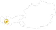 Hike Holdernach - Trautmannskinden in Paznaun - Ischgl: Position on map