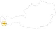 Hike Loop trail: Silvretta Lake - Saarbruecker hut - Silvretta Lake in Montafon: Position on map