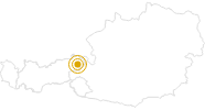 Hike Loop trail Kitzbühel in Kitzbühel Alps - St. Johann - Oberndorf - Kirchdorf: Position on map
