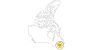 Wanderung Belcher's Marsh Park in Halifax und Umland: Position auf der Karte