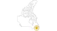 Wanderung Bluff Wilderness Trail Halifax in Halifax und Umland: Position auf der Karte