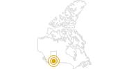 Wanderung Skogan Pass in Süd-Alberta: Position auf der Karte