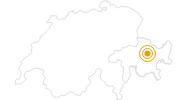 Wanderung Von Davos Glaris über Spina nach Monstein in Davos Klosters: Position auf der Karte