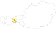 Wanderung Glungezer Runde in der Region Hall - Wattens: Position auf der Karte
