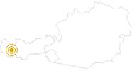 Hike Berggeistweg St Christoph - Arlberg in St.Anton am Arlberg: Position on map