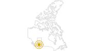 Wanderung Über den Cory Pass zum Mount Edith im Banff-Nationalpark: Position auf der Karte