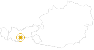 Wanderung WildeWasserWeg von der Dresdner zur Sulzenau Hütte in Stubai: Position auf der Karte