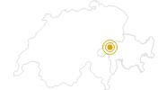 Wanderung Durch den Eichenwald bei Brigels in Surselva: Position auf der Karte