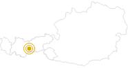 Wanderung Von der Starkenburger Hütte zur Franz-Senn-Hütte in Stubai: Position auf der Karte