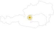 Wanderung durch die Silberkarklamm - Ramsau am Dachstein in Schladming-Dachstein: Position auf der Karte