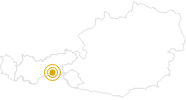 Hike Kasererscharte - Frauenwand Tyrol in the Zillertal: Position on map