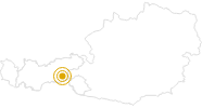 Hike Karl von Edel Hut - Kasseler Hut Mayrhofen in the Zillertal: Position on map