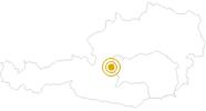 Wanderung Fünf-Hütten-Weg in Schladming-Dachstein: Position auf der Karte