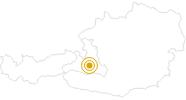 Wanderung Mooslehenalm im Grossarltal: Position auf der Karte