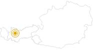 Hike Salvesen Gorge - Tarrenz in the Ferienregion Imst: Position on map
