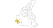 Wanderung Chilkoot Trail in Nord-British Columbia: Position auf der Karte