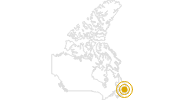 Hike Long Range Traverse in the Gros Morne National Park: Position on map