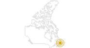 Wanderung Long Range Traverse im Gros-Morne-Nationalpark: Position auf der Karte