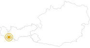Wanderung Kronenjoch bei Ischgl in Paznaun - Ischgl: Position auf der Karte