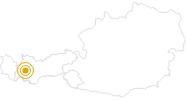 Wanderung Fernwanderweg E5: Zams - Kreuzjoch - Braunschweiger Hütte im Tiroler Oberland: Position auf der Karte
