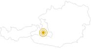 Wanderung Schuhflickerseen-Paarseen im Grossarltal: Position auf der Karte