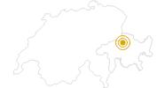 Wanderung Dreibündenstein Panoramaweg in Chur: Position auf der Karte