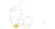 Wanderung Gendarmenpfad / Gendarmstien in Südjütland: Position auf der Karte