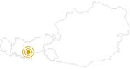 Wanderung Seven Summits - Wilder Freiger in Stubai: Position auf der Karte
