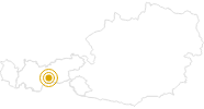 Wanderung Seven Summits - Habicht in Stubai: Position auf der Karte