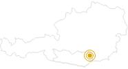 Wanderung Erzwanderweg Frantschach-St. Gertraud im Lavanttal: Position auf der Karte