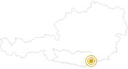 Hike Lavanttaler Höhenweg in the Lavanttal: Position on map