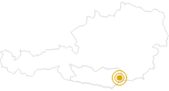 Wanderung St. Georgener Lebensbaumpfad im Lavanttal: Position auf der Karte