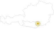 Wanderung Wolfsberg - Weinlehrpfad im Lavanttal: Position auf der Karte