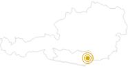 Wanderung Panoramaweg Südalpen - Etappe 14 - Griffner Berg - Wolfsberger Hütte im Lavanttal: Position auf der Karte