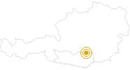 Webcam Steiermark, Tonnerhütte in der Erlebnisregion Hochosterwitz - Kärntenmitte: Position auf der Karte