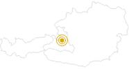 Wanderung Salzburger Almenweg Gesamtroute am Hochkönig: Position auf der Karte