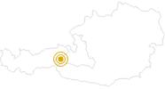 Wanderung Smaragdweg durch das Habachtal in Nationalpark Hohe Tauern: Position auf der Karte
