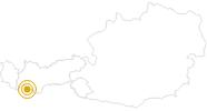 Wanderung Goldseen im Tiroler Oberland: Position auf der Karte
