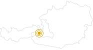 Hike From Jetzbach bridge to Kaprun (Jetzbachastensteig) in Zell am See - Kaprun: Position on map