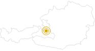 Wanderung Via Alpina am Hochkönig: Position auf der Karte