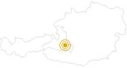 Wanderung Flachauwinkl - Südwienerhütte - Spirzinger in der Salzburger Sportwelt: Position auf der Karte