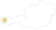 Wanderung Durch das Auenfeld nach Schröcken am Arlberg: Position auf der Karte