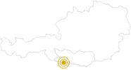 Wanderung Barfußwanderung entlang des Aquatrails in Nassfeld-Pressegger See - Lesachtal - Weissensee: Position auf der Karte